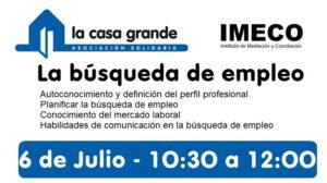 la busqueda de empleo IMECO julio